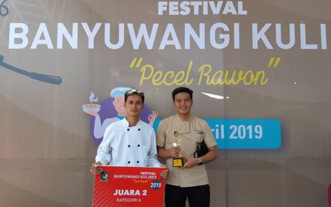 Aston banyuwangi Hotel & Conference Center won 2nd place at Cooking Competition Banyuwangi Culinary Festival 2019 with theme Pecel Rawon