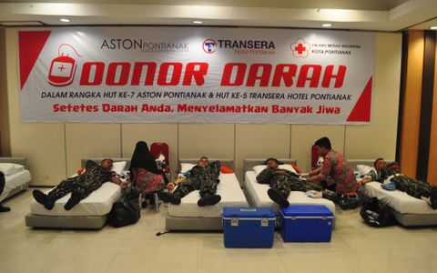 Aston Pontianak Hotel & Convention Center menggelar kegiatan Donor Darah
