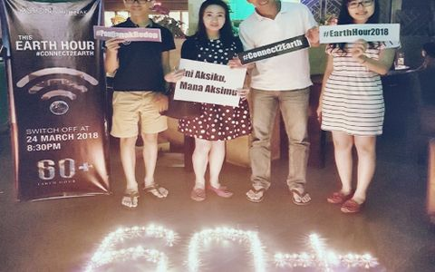 Aston Pontianak Join Energy Saving Campaign in Earth Hour 2018 Celebration