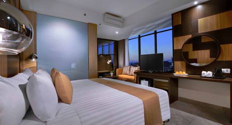 Unique room with tranquility in modern stylish classy hotel in mataram lombok
