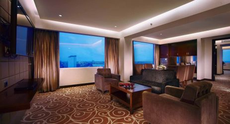 Stylish and spacious room with adjoined living area complete with modern facilities to make your business and leisure time more enjoyable in makassar
