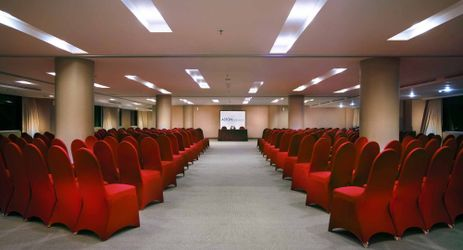 indoor function room to host business meeting, workshop, training or wedding, birthday party or any reception with city view of makassar