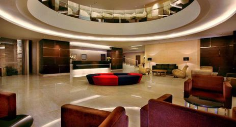 Spacious lobby with welcoming atmosphere in makassar