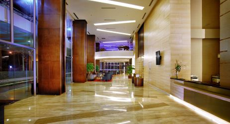 An elegant lobby located in the commercial center of North Jakarta