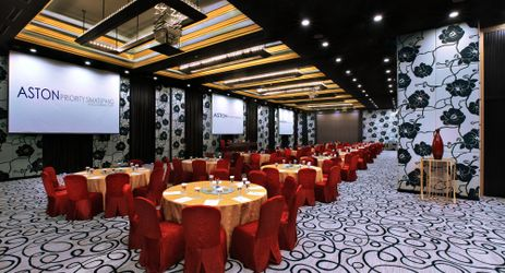 Spacious ballroom on the topmost floor for business and celebratory occasion in the center of business district in South Jakarta
