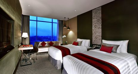 Modernly-designed room to ensure the quality sleep for guests who stay in the center of business district in South Jakarta
