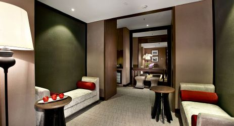 An elegant living room exclusively provided for guest when staying in the best hotel in the center of business district in South Jakarta
