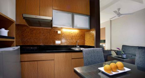 Our Executive Family room offer you to cook in your own kitchenette.