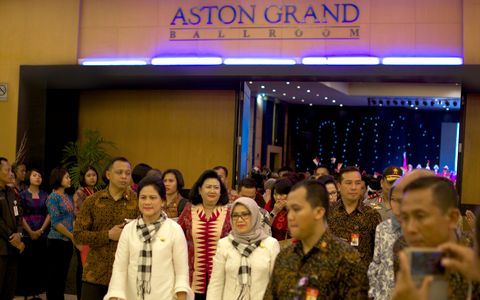 The Socialization of Anti-Drugs and Pornography at Aston Grand Ballroom Attended by the First Lady of Republic Indonesia