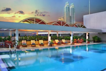 Aston at kuningan suites facilities and services for Swimming pool service software
