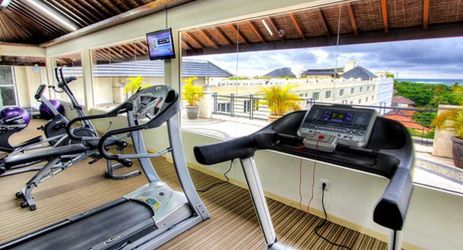 stay healthy during holiday at fitness center facility in kuta bali
