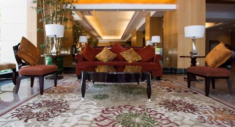a cozy atmosphere and fresh when you enter the lobby area with the friendliness and warmth of the greeting from the staff welcome you in manado