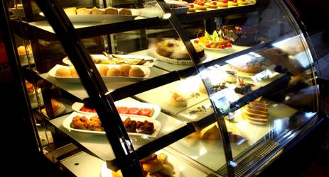 Assorted selection of cakes served in manado