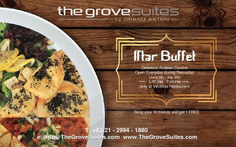 Iftar Buffet at the Grove Suites by Grand Aston