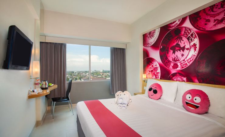 Enjoy the room with nice view from wide window overlooking city view
