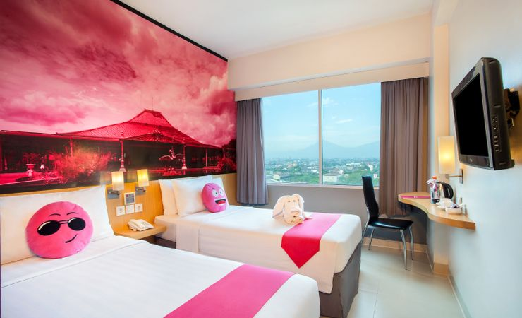 Enjoy the room with nice view from wide window overlooking Lawu mountain view