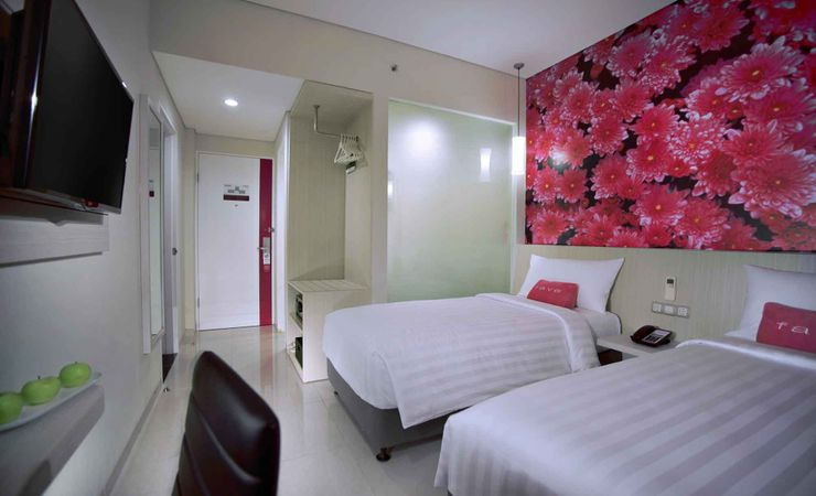 A clean and nice twin for MICE of budget hotel to stay while holiday in Mataram Lombok