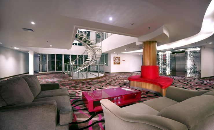 Lobby 9th Floor is hotel facility for the guest who want to relax, reading the magazine and enjoy the city view