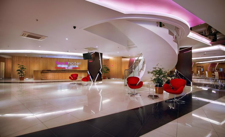 Hotel facility is located at 8th Floor, modern and minimalist concept .