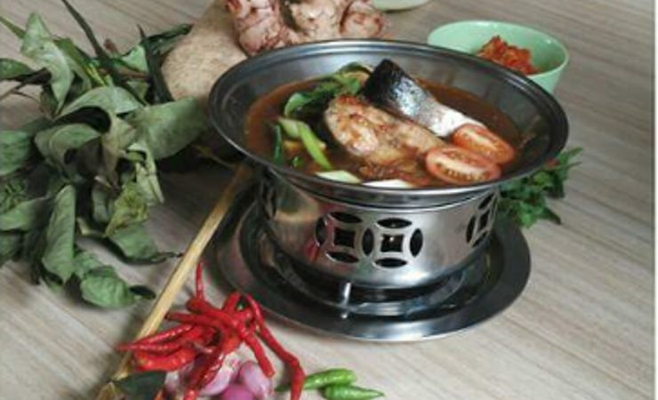 Traditional food from palembang strongly taste and spicy on with Patin fish