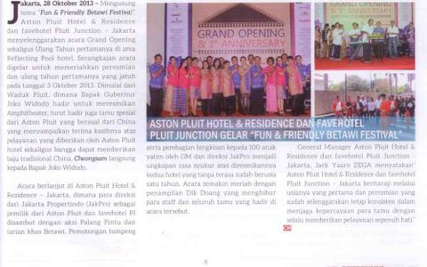 Grand Opening Aston & Fave Pluit