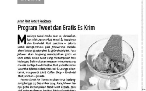 Program Tweet dan Gratis Es Krim