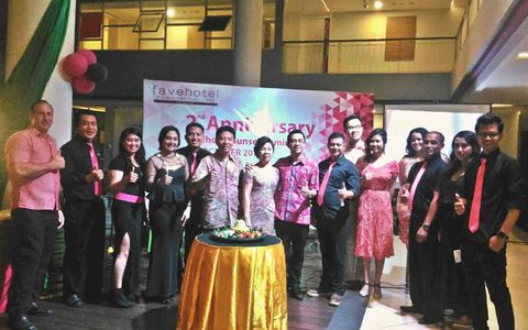The Celebration of 2nd Anniversary Favehotel Sunset Holding Appreciation Night for The Best Travel Agent