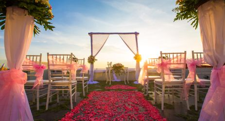 A perfect wedding venue with a stunning sunsets view from the legendary Kuta Beach Bali