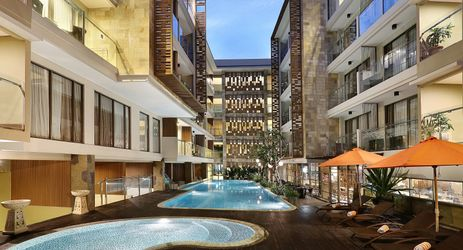 Chilling out by the pool is a great choice beside sightseeing and exploring Kuta Bali